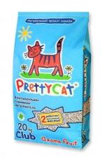 """PrettyCat """"Aroma Fruit"""" наполнитель глиняный впитывающий с део-кристаллами 4 кг./10 кг."""